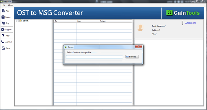 Gaintools OST to MSG Converter