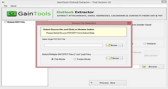 GainTools Outlook Extractor