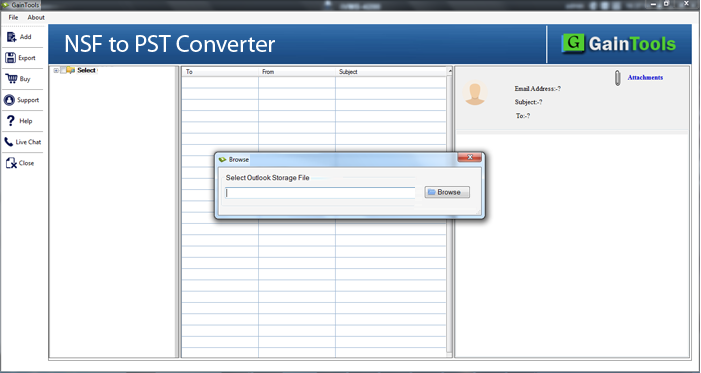 GainTool NSF to PST Converter