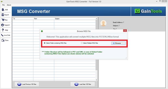 Windows 7 GainTools MSG Converter 1.0.1 full